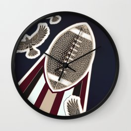 American football, gridiron ball Wall Clock