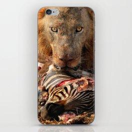 Lion Eating iPhone Skin