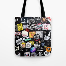 City tags Tote Bag