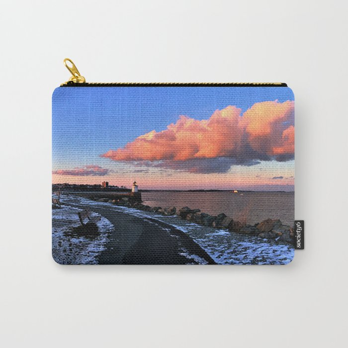 Winter Sunset Panorama at Bug Light Park in South Portland, Maine Carry-All Pouch