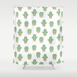 Cat-cus Shower Curtain