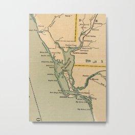 Vintage Map of Port Charlotte Florida (1896) Metal Print