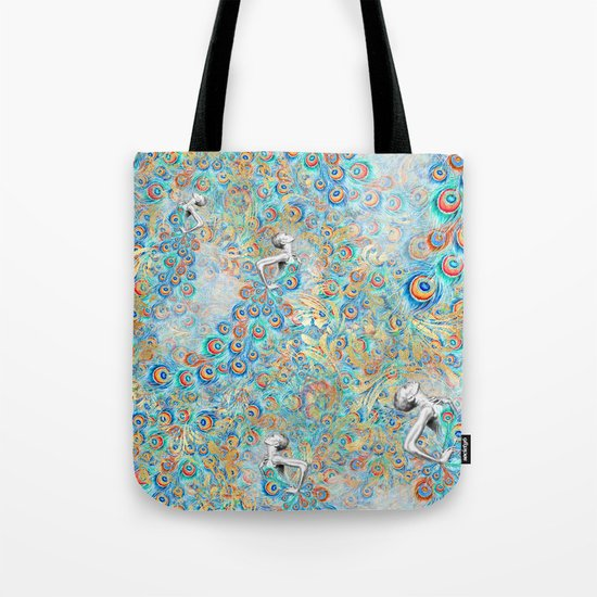 Feather Peacock #13 Tote Bag