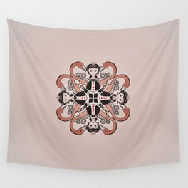 Queen of Hearts mandala Wall Tapestry
