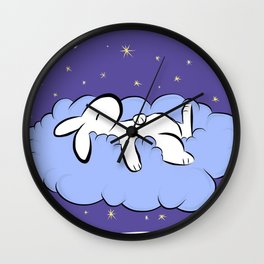 Sleeping Bunny Wall Clock
