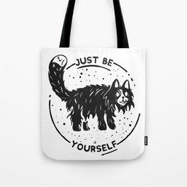 Wierd cat Tote Bag