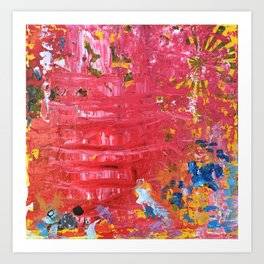 Red Abstraction Art Print
