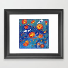 Snails abyss Framed Art Print