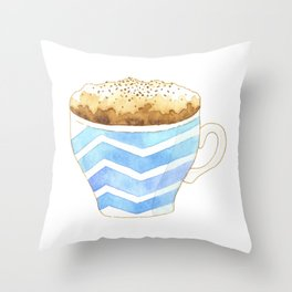 Capuccino Foam Cup Throw Pillow