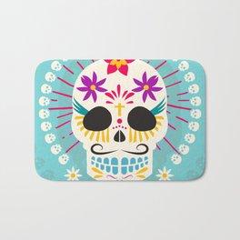 Dios De Los Muertos Day of the Dead Sugar Skull Fiesta Bath Mat