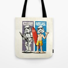 Storm and Sunny Day Trooper Tote Bag