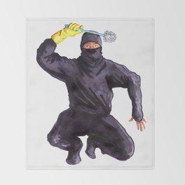 Bathroom Ninja Throw Blanket