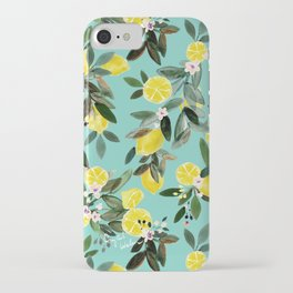Summer Lemon Floral iPhone Case