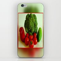 vegetables iPhone & iPod Skins featuring Fresh Vegetables by Art-Motiva
