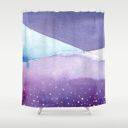 Snowy Landscape Abstract Shower Curtain