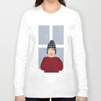 home alone Long Sleeve T-shirts featuring Home Alone by Robert Scheribel