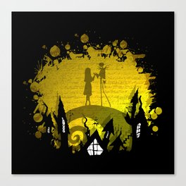 Jack Skellington and Sally Canvas Print