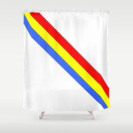 Flag of romania 4 -romania,romanian,balkan,bucharest,danube,romani,romana,bucuresti Shower Curtain