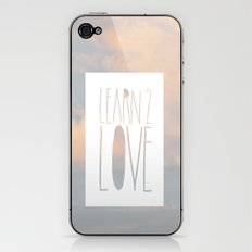 LEARN 2 LOVE iPhone & iPod Skin
