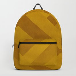Boho, Geometric Art, Yellow, Faux Suede, Colourful Stripes Backpack