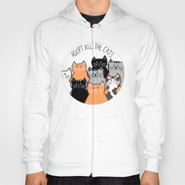 Adopt all the cats Hoody