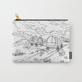 Wagon Trail Paint-By-Number Carry-All Pouch