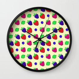 Berry mix Wall Clock