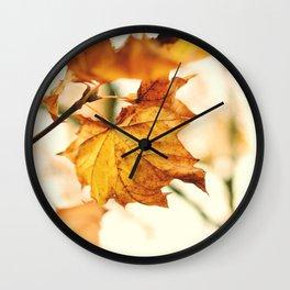 A Fall Like This Wall Clock
