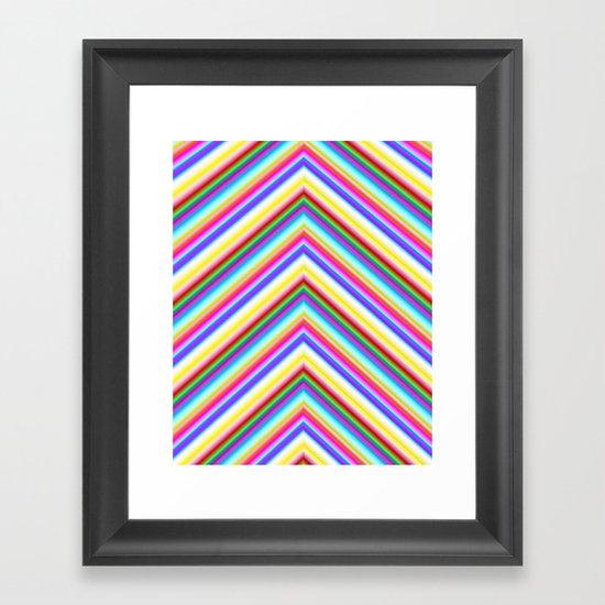 Chevron 8 Framed Art Print