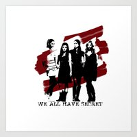 pretty little liars Art Prints featuring Pretty Little Liars by Rose's Creation