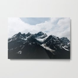 Mountains In Icefield Parkway Metal Print