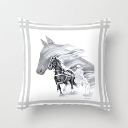 Trotting Up A Storm Throw Pillow