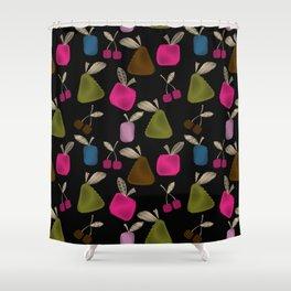 Funny cartoon multi -Frutti . Shower Curtain