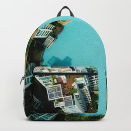 The City Below Circle (Color) Backpack