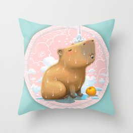 Hapybara Throw Pillow