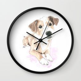 Jack russell terrier love Wall Clock