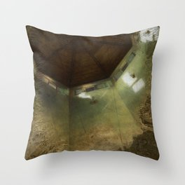 'The Dawning Light' Interior Painting of Octagon Ceiling in the Morning Windows Realism Throw Pillow