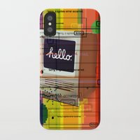 mac iPhone & iPod Cases featuring Hello Mac by Roberlan Borges