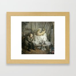 A Life Painting Session Framed Art Print