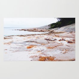 Orange-hued Shores Rug