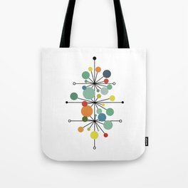 Atomic Age Nuclear Abstract Motif — Mid Century Modern Pattern Tote Bag