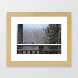 Last Snow Framed Art Print
