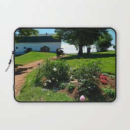 Horse Drawn Carriage on Farm in PEI Laptop Sleeve
