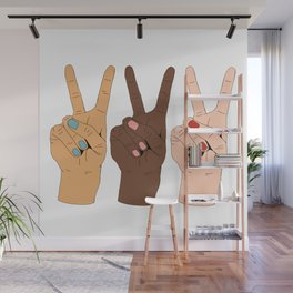 Peace Hands Wall Mural