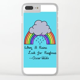 When it Rains, Look for Rainbows - LaurensColour Clear iPhone Case