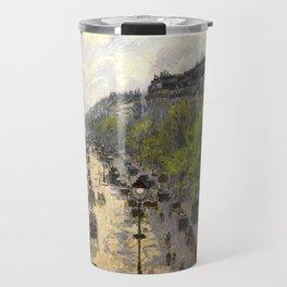 "Camille Pissarro ""Boulevard Montmartre, Spring"" Travel Mug"