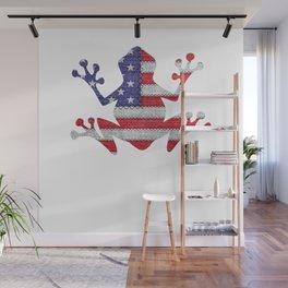 Patriotic frog American American Flag Vintage Funny Gift T-Shirt Wall Mural