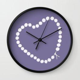 Pearl by Pearl / Perle par Perle / Lilac / Martin Moreau Wall Clock