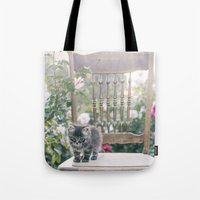 austin Tote Bags featuring Austin by With Love & Lace...