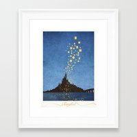tangled Framed Art Prints featuring Tangled by Mads Hindhede Svanegaard